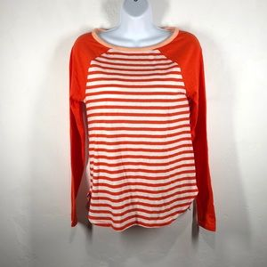 J.Crew orange stripe tee size xs